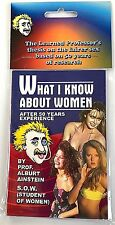 Funny WHAT I KNOW ABOUT WOMEN BOOK Blank Pages Mini Sex Gag Joke Prank Girls NEW