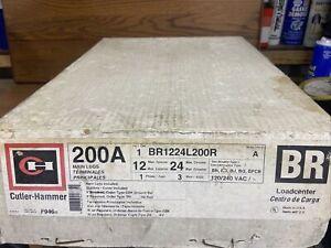 200a Main Lug Loadcenter,No BR1224L200R,  Cutler-Hammer Includes Door! 12 Spaces