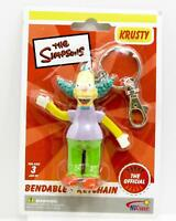 The Simpsons Bendable Keychain Krusty The Clown  NEW Stocking Stuffer  Bendables