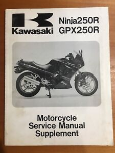 Kawasaki Ninja250R, GPX250R Service Manual Supplement '88-92 (99924-1109-53)