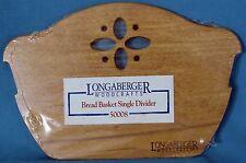 Longaberger Woodcrafts Bread Basket Single Divider 50008 New in Packaging