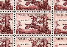 1956 - WILD TURKEY - #1077 Full Mint -MNH- Sheet of 50 Postage Stamps