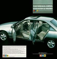 VAUXHALL-OPEL COLOUR & TRIMS BROCHURE 1987 EDITION No2. V6248 04.87 (UK)
