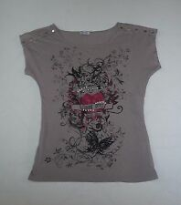 sexy T-Shirt von PIMKIE flying heart Forever yours Swarowski+Nieten Gr.S  NEU