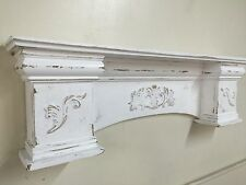 French Country Mantle Shelf,Primitive Mantel,Large Mantle shelf Fancy Mantle,48""
