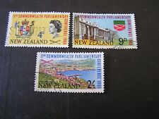 NEW ZEALAND, SCOTT # 375-377(3), COMPLETE SET 1965 11TH COMMONWEALTH ISSUE USED