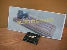 Montblanc Fountain Pen Ink Cartridges plus Card Blotter w pic inkstand & bottle