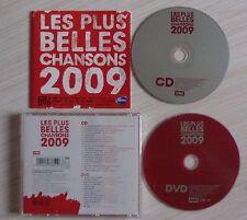 VERSION CD + DVD ALBUM LES PLUS BELLES CHANSONS 2009 COMPILATION 21 TITRES + 14