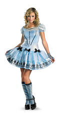 ADULTS WOMENS ALICE IN WONDERLAND SASSY ALICE FANCY DRESS COSTUME - SZ 12/14