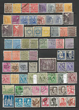 KG05 - GERMANY Zones & SAARLAND collection stamps 2 scans