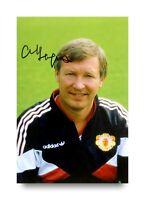 Sir Alex Ferguson Signed 6x4 Photo Manchester United Manager Autograph + COA