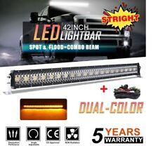 "42INCH 3360W Trip ROW LED LIGHT BAR COMBO BEAM OFFROAD 4WD TRUCK ATV 40"""
