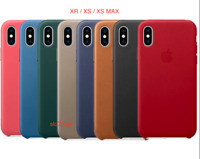 iPhone XR XS XS Max Apple Echt Official Original Leder Schutz Hülle Leather Case