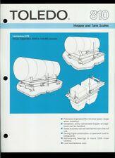Rare Vintage Original Toledo Scale Dealer Sheet Page: 810 Lectrocell