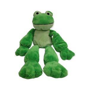 "2003 Princess Soft Toys GREEN PLUSH FROG  W Pellets  Toy - 16"""