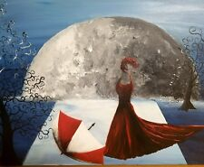 Lady in Red, 2000-now, Acrylic,  Surrealism, original