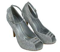 Ladies New Peep Toe Stone Establishment High Stiletto Party Women Shoes UK Size