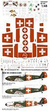 Peddinghaus 1/48 Messerschmitt Bf 109 Swiss Air Force Markings [Decal] 1105