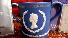 1977 WEDGWOOD ROYAL BLUE #436/500 QUEEN ELIZABETH II SILVER JUBILEE LOVING CUP !