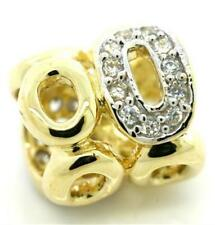 St Moritz Diamond 9ct 9K Solid Gold Bead Charm FIT EURO BRACELETS, 30 Day Refund