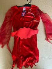 Halloween Teen Red Devil Costume Age 9-10 Years - BNWT