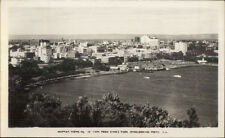 Perth WA Australia Murray Views From King's Park Real Photo Postcard