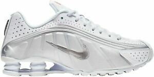 NIKE SHOX R4 MEN CASUAL SHOES WHITE/SILVER 104265-131 8.5 9 9.5 10 10.5 11 11.5