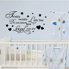 Twinkle Twinkle Little Star Wall Quote Stickers, Wall Decals, Wall Art