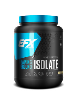 EFX Sports Training Ground Whey Protein Isolate - 1.5lb Chose Flavor - iso100