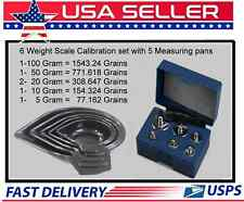 RELOADING SCALE CALIBRATION KIT WITH 6 WEIGHTS IN A STORAGE CASE WITH 5PC MEASU