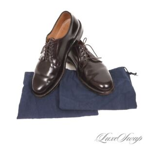 #1 MENSWEAR Brooks Brothers Made in USA Alden 06605 #8 Shell Cordovan Shoes 10 D
