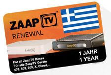 ZaapTV GREEK Renewal Code 409N, 509N X, CloodTV, 609N - 1 year maildelivery