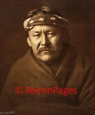 New Art Print 1904 Edward Curtis Photo Navajo Man Wearing Blanket 11X17