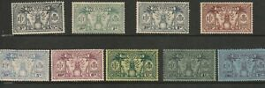 New Hebrides MOUNTED MINT ,VALUES TO 5/-. SOME TONING AS SHOWN