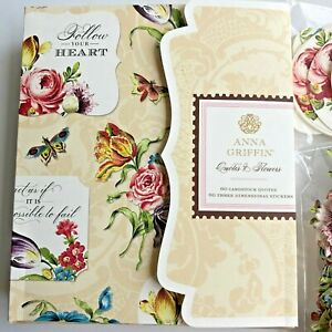 Anna Griffin Quotes & Flowers - 60 Cardstock Quotes + 60 Stickers