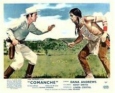 Comanche Original Lobby Carte Dana Andrews Henry Brandon Knife Lutte Avec Indien