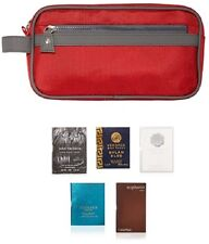 Men's Toilettry Bag with 5 Perfume sample Vials, NEW