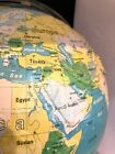 """Vintage NYSTROM Readiness World Globe Relief 16"""" Removable from Stand - CHARITY"""