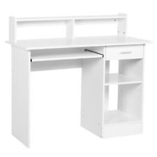 Schreibtisch Weiß Computertisch Arbeitstisch Bürotisch Regal PC Tisch