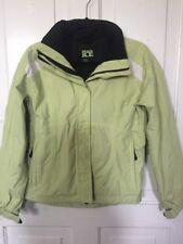 BLACK ICE Women's Size XS Light Green / Black Snow Ski Jacket with Hood