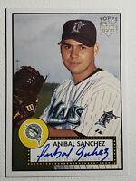 Anibal Sanchez 2006 Topps 52 RC Marlins Nationals Auto Autograph Signed Card WSC