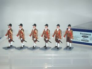BRITAINS 40296 COLLECTORS CLUB BRITISH STATE COACH FOOTMEN GUARDS FIGURE SET