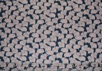 On The Farm Pink Pigs on Charcoal animals quilting By the 1/2 yard 100% cotton