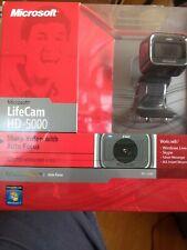 NEW SEALED BOX Microsoft LifeCam HD-5000 720p HD Webcam Camera -  Black!
