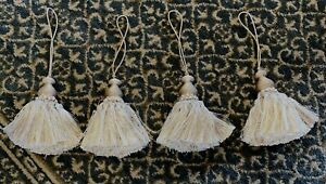 LOT / SET OF 4 GOLD TASSEL CURTIN TIEBACKS - EXCELLENT CONDITION!!