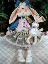 ~Primitive Raggedy Spring~~Bunny w/Baby Ornie~DaRcY D'HaRe & LuCy~Pattern #29~