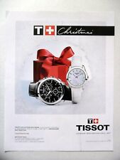 PUBLICITE-ADVERTISING :  TISSOT Christmas  2014 Collection Couturier - Montres