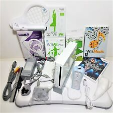 Wii Console Bundle Starter Set =Fit Balance Board+ Accessories +1 Year warranty