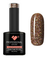 VB-535 VB™ Line Nicely Brown Glitter Saturated - UV/LED soak off gel nail polish