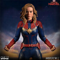 "Mezco Toyz 1/12 Captain Marvel Female Head Body Clothes Model 6"" Action Figure"